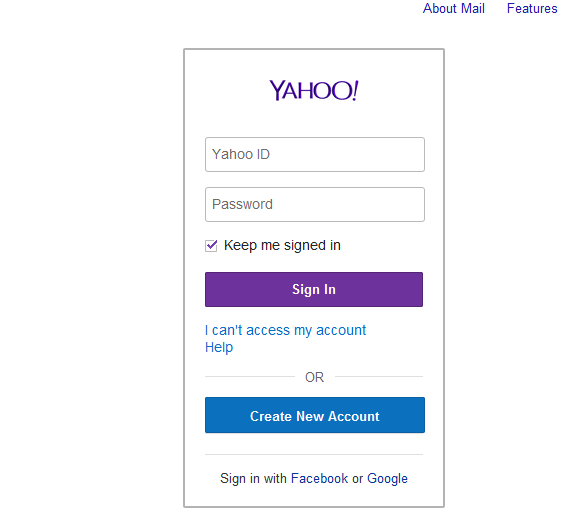 Yahoo Mail Sign Up Sign In Yahoo Mail Registration Page