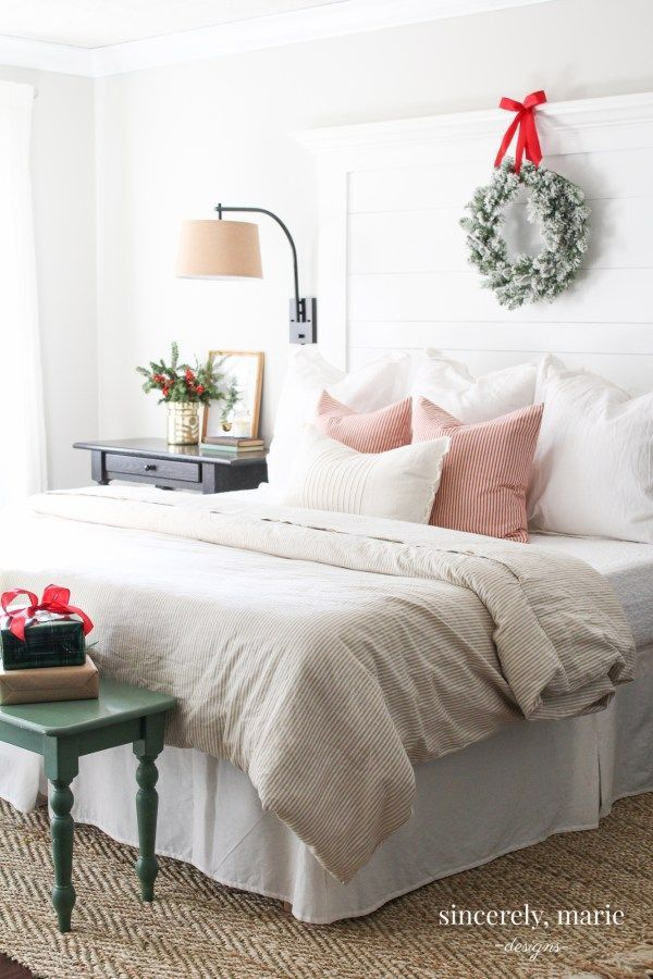 Our Classic Red Christmas Bedroom in 2018   celebrate: Christmas ...