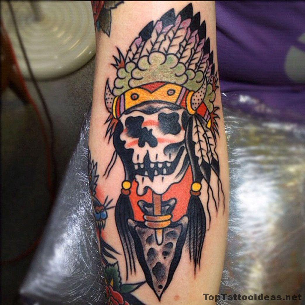 23b0570ab Dead Indian Tattoo Idea | Dövme | Tattoos, Top tattoos, Hand tattoos