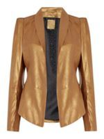Look what I found at House of Fraser Biba gold leather structured jacket