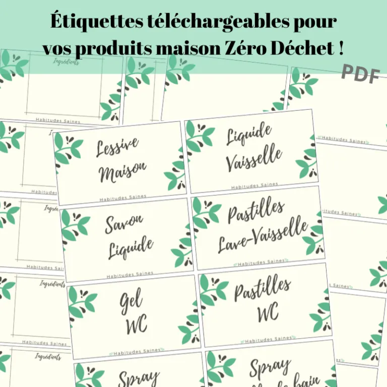 Fantastique Etiquettes imprimables gratuites pour produits DIY | Bullet UB-56