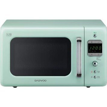 Daewoo Retro Microwave Oven, 20 Litre, Mint | Interior design ...