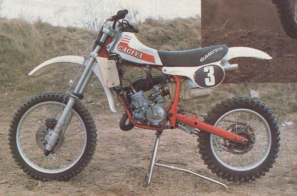 Early 80s Works Cagiva Thats Itialian Vintage Motocross Bikes