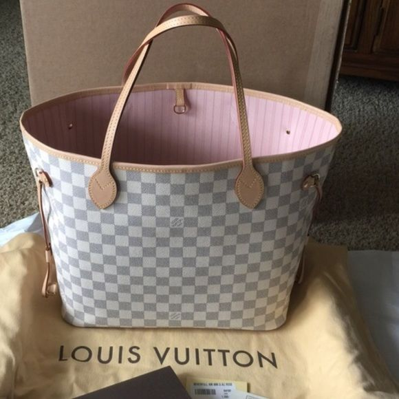 f400a0bd5f3 Authentic LV Neverfull MM in Damier Azur in RB Authentic LV ...