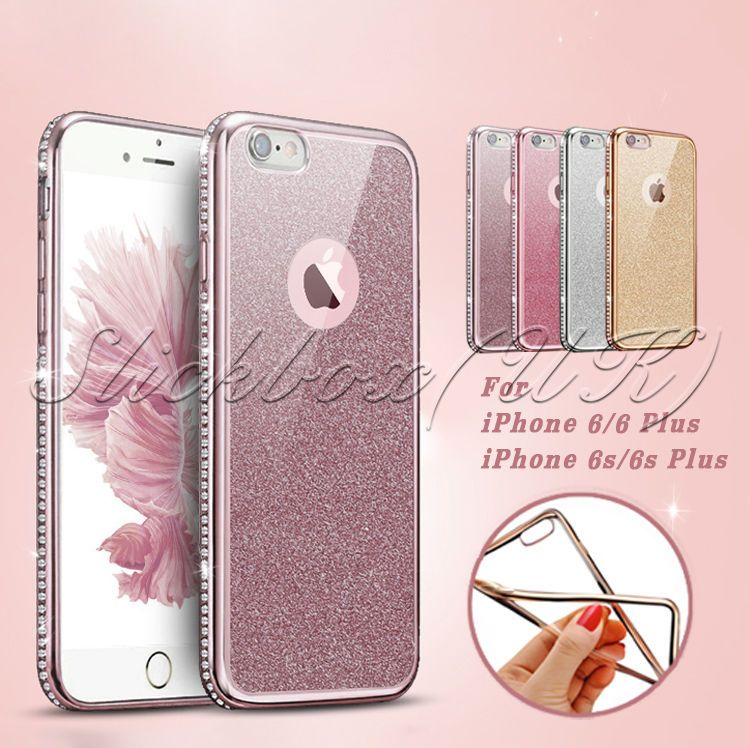 huge selection of 14221 a664a Details about Luxury Shockproof Silicone Diamond Glitter Back Case ...