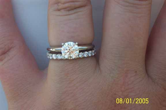 Opinions Needed Eternity Band Size For 1 Carat E Ring Diamond Wedding Bands Solitare Engagement Rings Eternity Bands