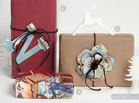 use wall paper samples magazine pages or other recyclable material for gift wrapping wrap. Black Bedroom Furniture Sets. Home Design Ideas