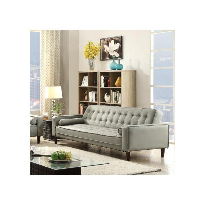Incredible Wade Logan Derek Faux Leather Sleeper Sofa Reviews Evergreenethics Interior Chair Design Evergreenethicsorg