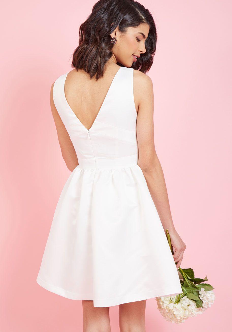 white short evening dress,open back scoop neck homecoming dress,273 ...