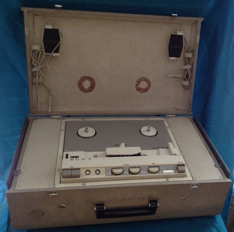 VTG SONY SUPERSCOPE STERECORDER REEL TO REEL TAPE RECORDER 464-CS with 2 MICS