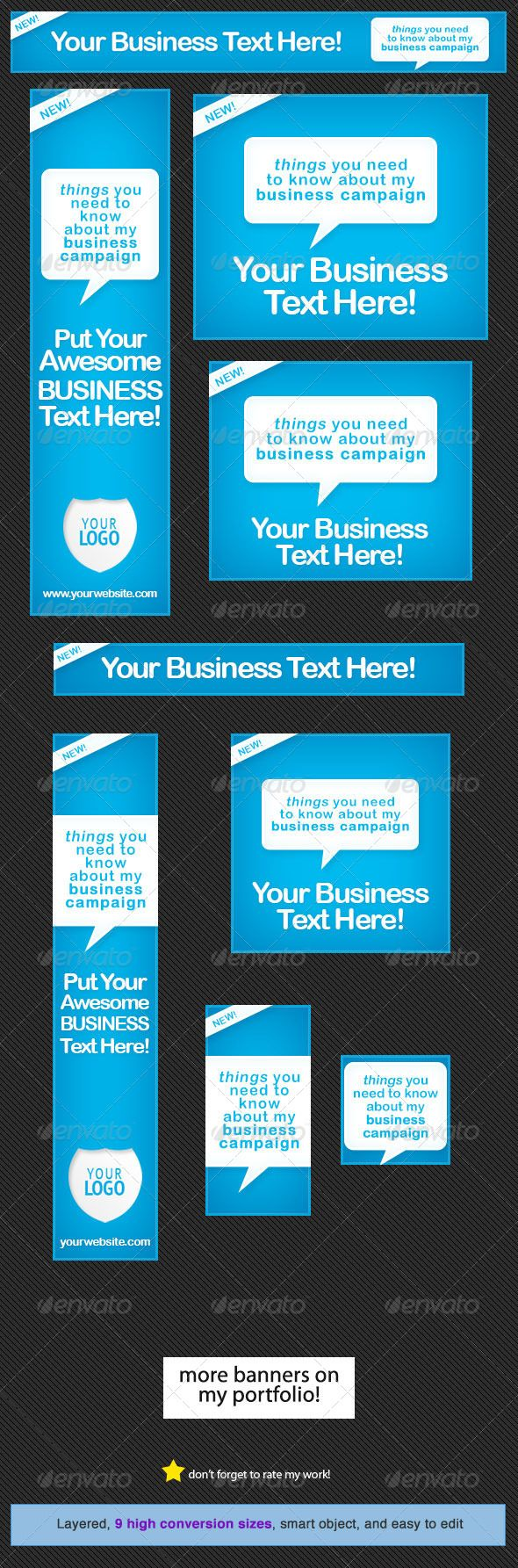 Design google banner ads - Neat Blue Web Banner Design