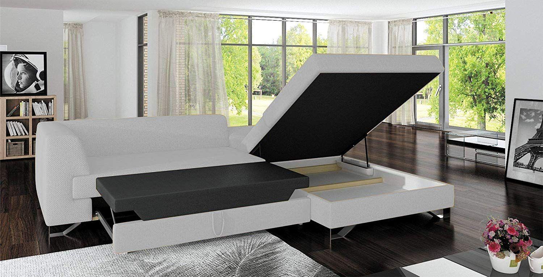 Amazon Com European Sleeper Sectional Sofa Bed With Storage For Modern Living Room L Sofa Bed With Storage Modern Living Room Lighting Sectional Sleeper Sofa