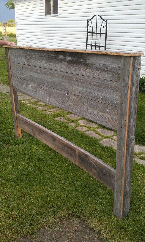 Reclaimed Barn Siding Headboard