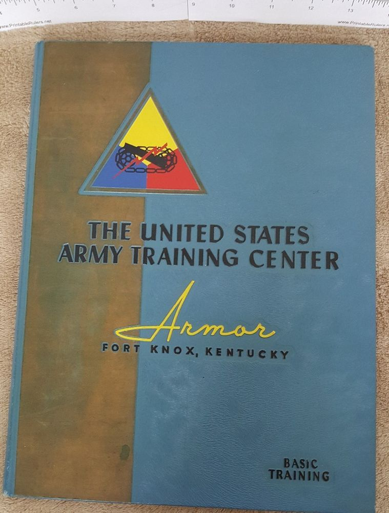 eeb3126d82d6b 1950's U. S. Army Training Center, Armor, basic training book, Fort Knox, KY