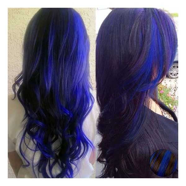 Blue Black Real Hair Extensions Via Polyvore Featuring Beauty