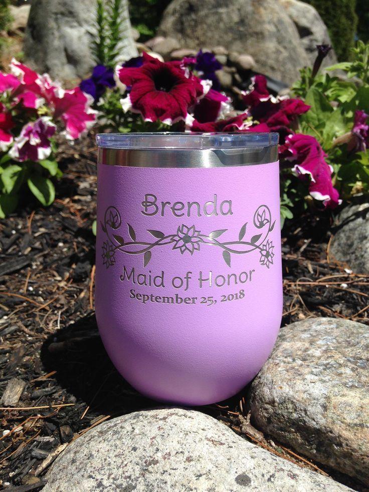 Bride wine glass bridesmaids gifts bride wine glass