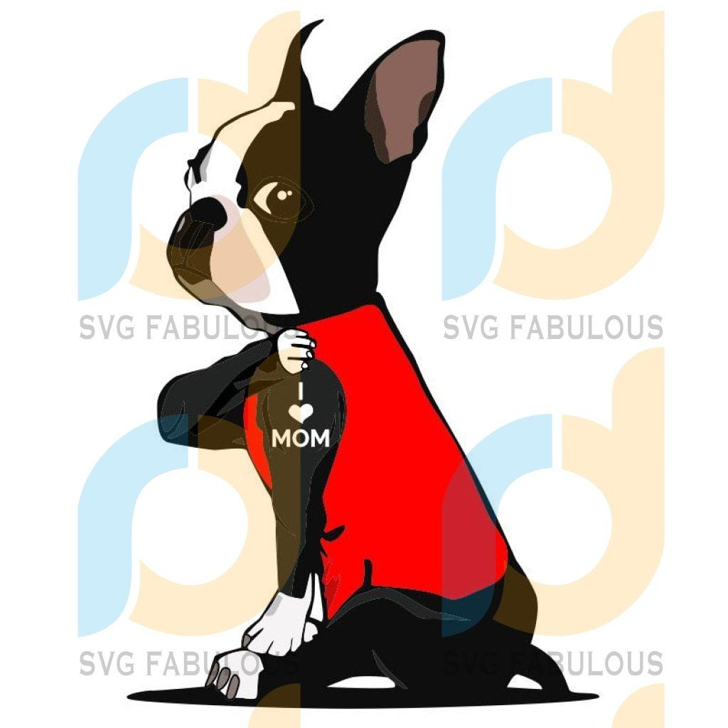 1594+ Boston Terrier Love Svg Crafter Files