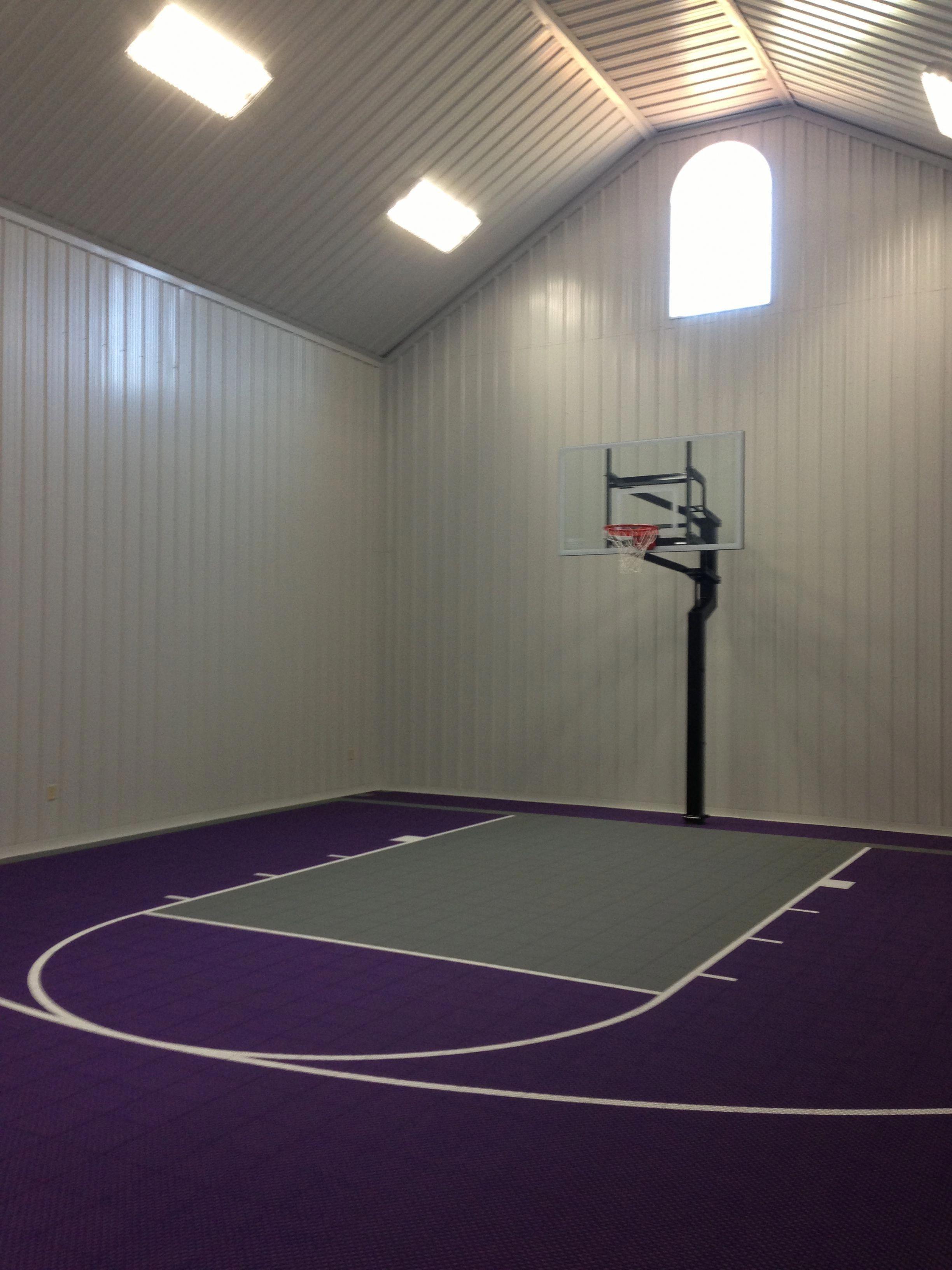 Open Cell Foam on an indoor basketball court www
