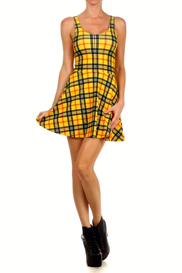 Woody yellow tartan dress