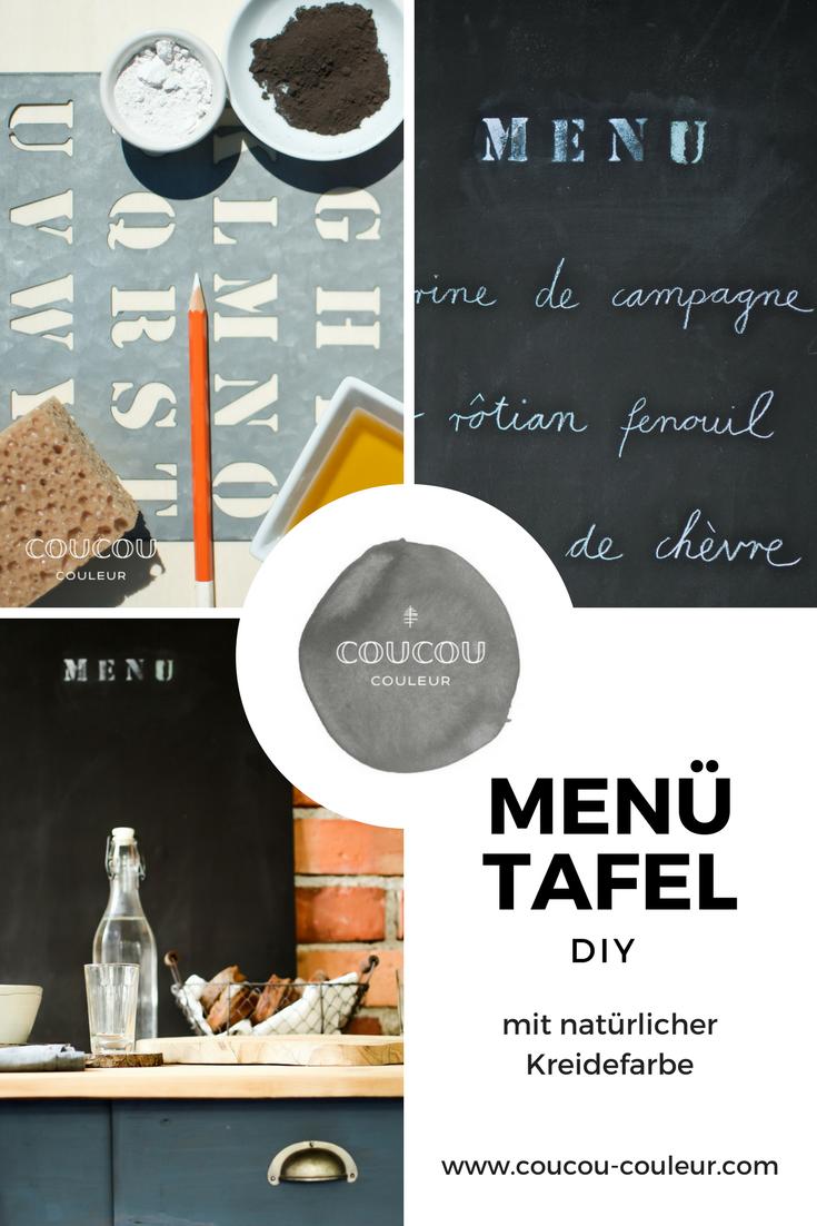 die menü- tafel für deine küche mit natürlicher kreidefarbe von