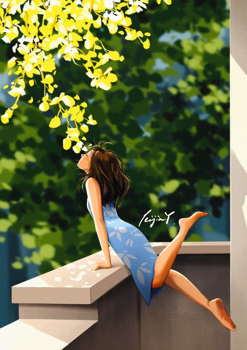 The Fragrance of Summertime - Art Print - Summer Vibe - Scents of Summer - Nature - Peijin