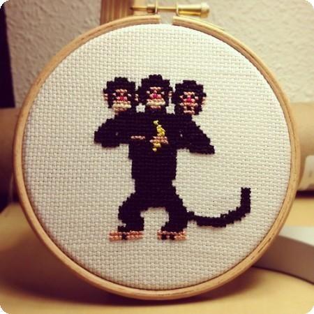 mono punto cruz