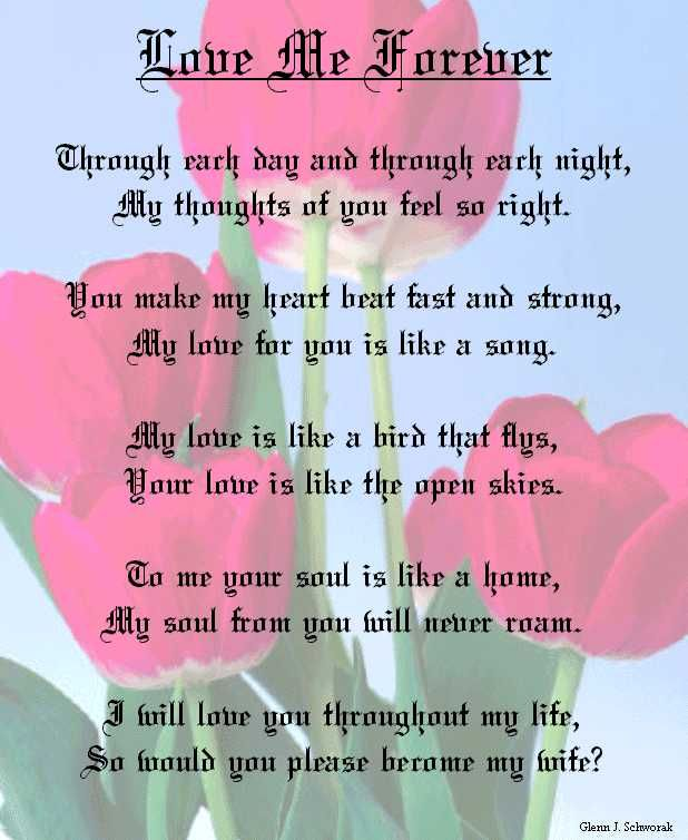 Love You Forever Poem | This is how I proposed to my true love ...