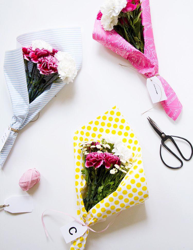 DIY Flower Bouquet ~ easy yet thoughtful gift. | Gathered Flowers ...