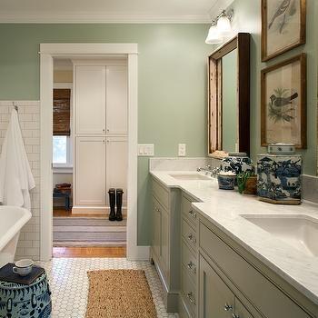 Green Bathroom With Modern And Cool Design Ideas Baths Interior Colorful Bathroom Tile Green Bathroom