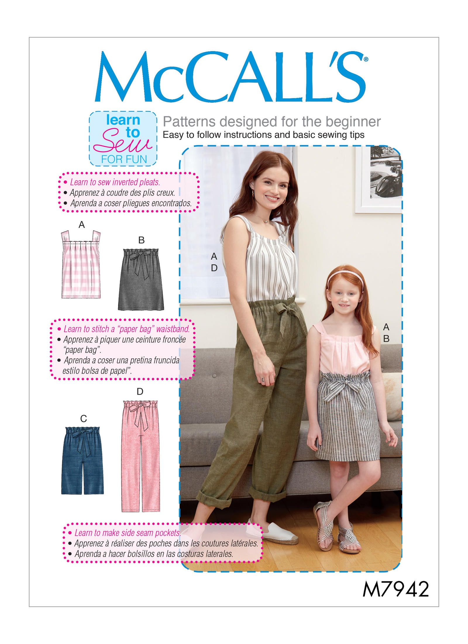 M7942 | Mccalls sewing patterns, Sewing patterns, Sewing