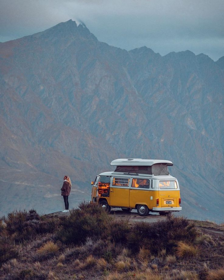 love this #van #mountains #adventure #scenery
