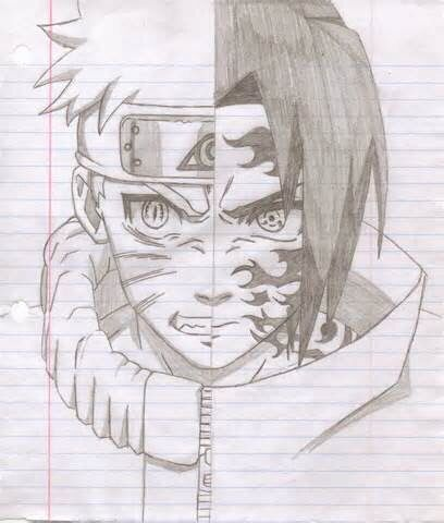 Naruto And Sasuke Sketch Drawings Pinterest Manga Dessin