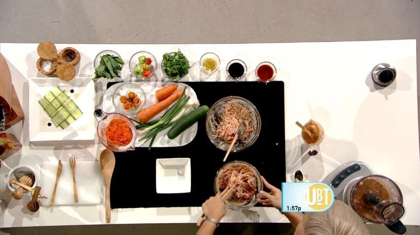 Receta de Spicy Crab Salad con yogurt de fresa creada por #ChefMarilyn #UnaBuenaTarde