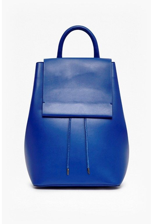 Sue Derby Faux Leather Backpack