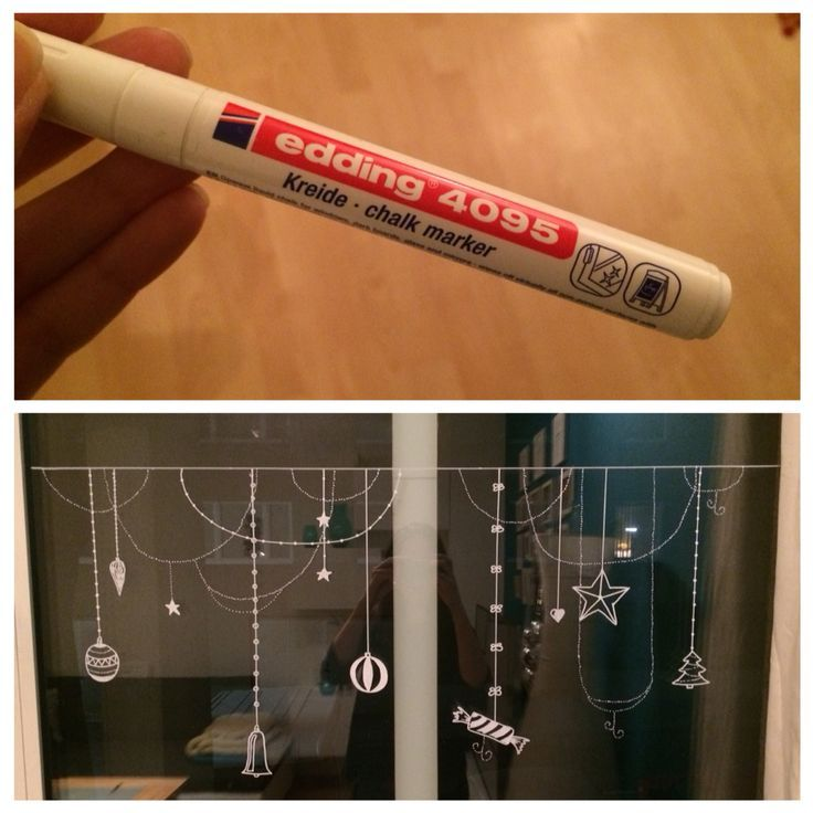 Photo of Diy window decoration with chalk marking. My new favorite Christmas decoration … #fe …