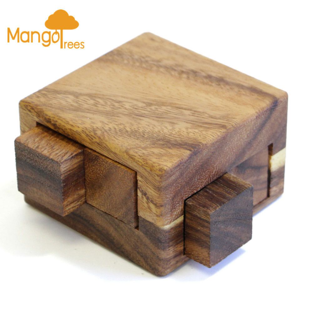 Magic Drawers Box Wooden 3d Logic Wood Brain Teaser