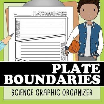 Plate boundaries  graphic organizer also organizers rh pinterest
