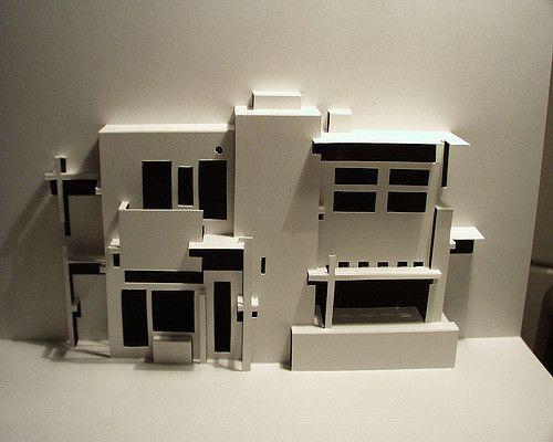 Rietveld Schroder House Utrecht Netherlands Origami Architecture Paper Architecture Concept Architecture