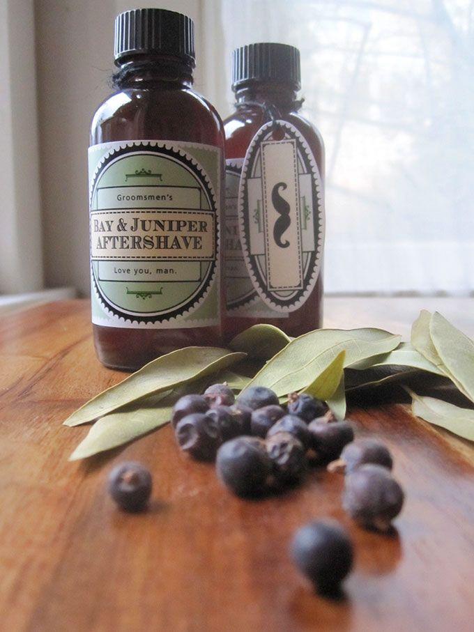 DIY Groomsmen's Aftershave Favors | Evermine Blog | www.evermine.com