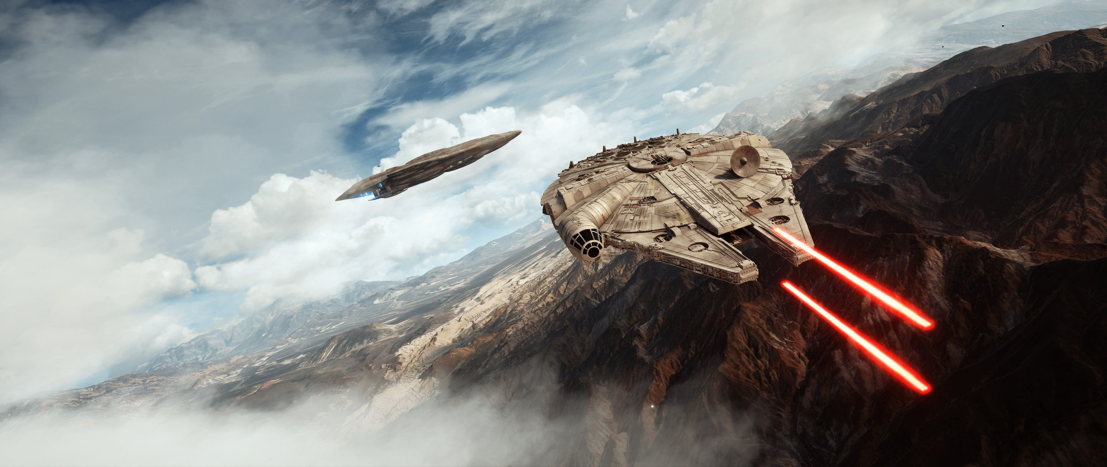 Star Wars Millennium Falcon Digital Wallpaper Millennium Falcon Star Wars Battlefront Video Game In 2020 Star Wars Canvas Art Star Wars Background Star Wars Wallpaper