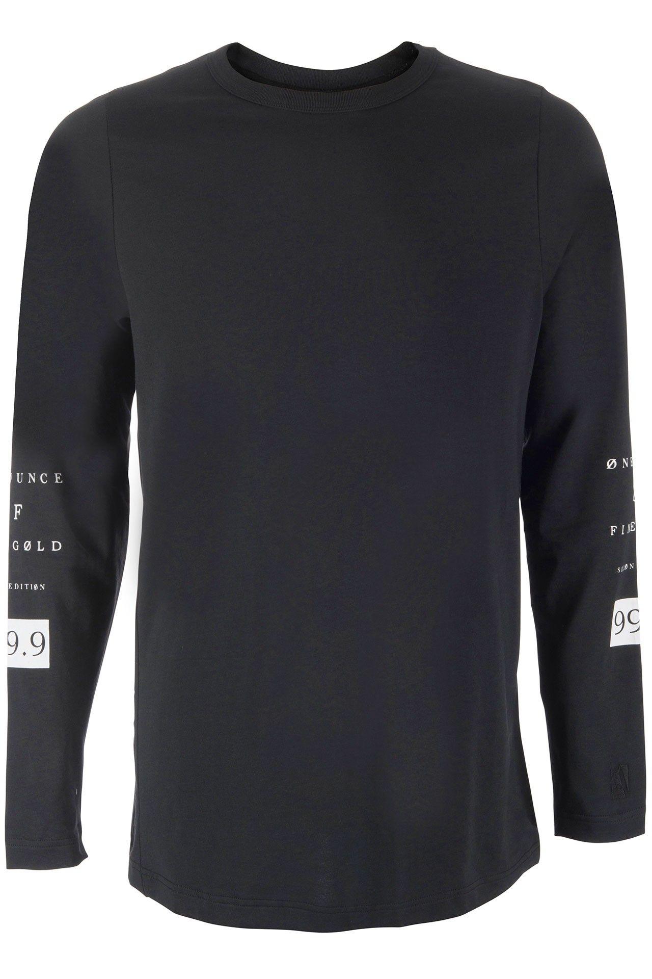 Franzel Amsterdam Igwt Long Sleeve Zwart Zwart Mouwen T Shirts Zwart