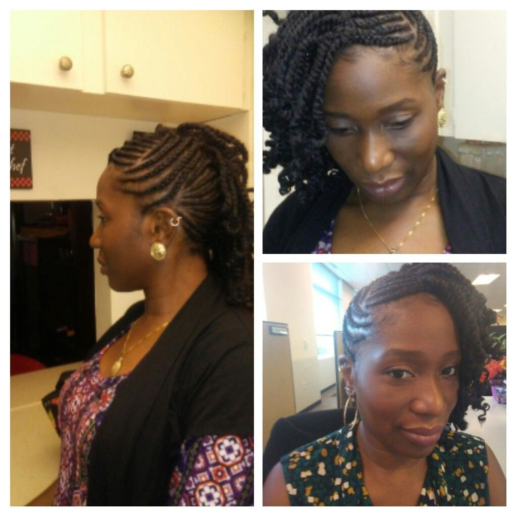 Half side mohawk kinky twist hair growth pinterest mohawks