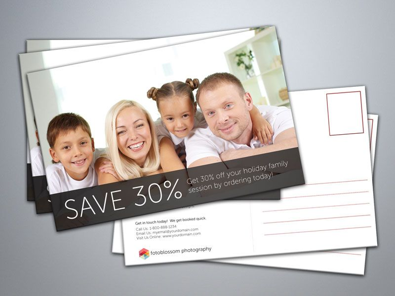 Free Postcard Templates For Photographers Photography Marketing
