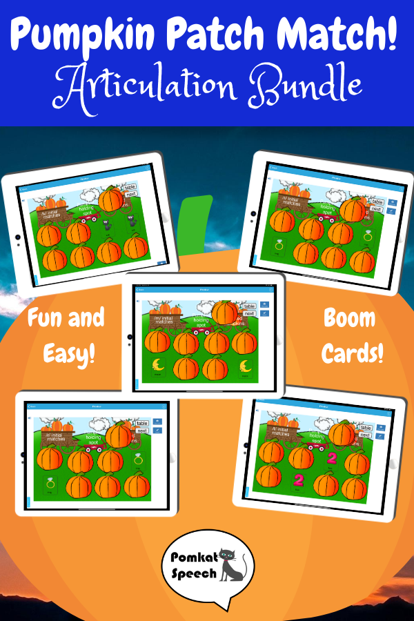 Pumpkin Patch Match! Articulation Bundle Boom Cards