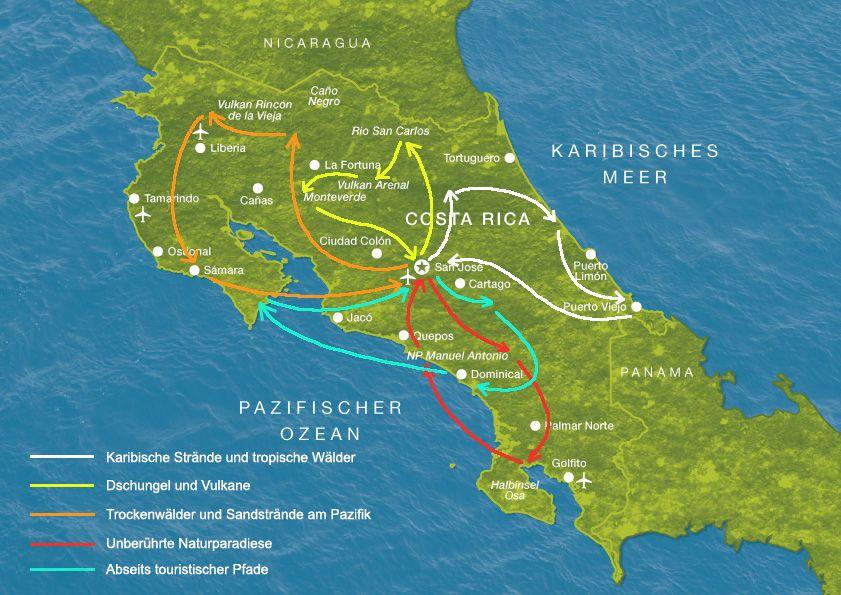 costa rica karte sehenswürdigkeiten Bildergebnis für karte sehenswürdigkeiten costa rica | Costa rica