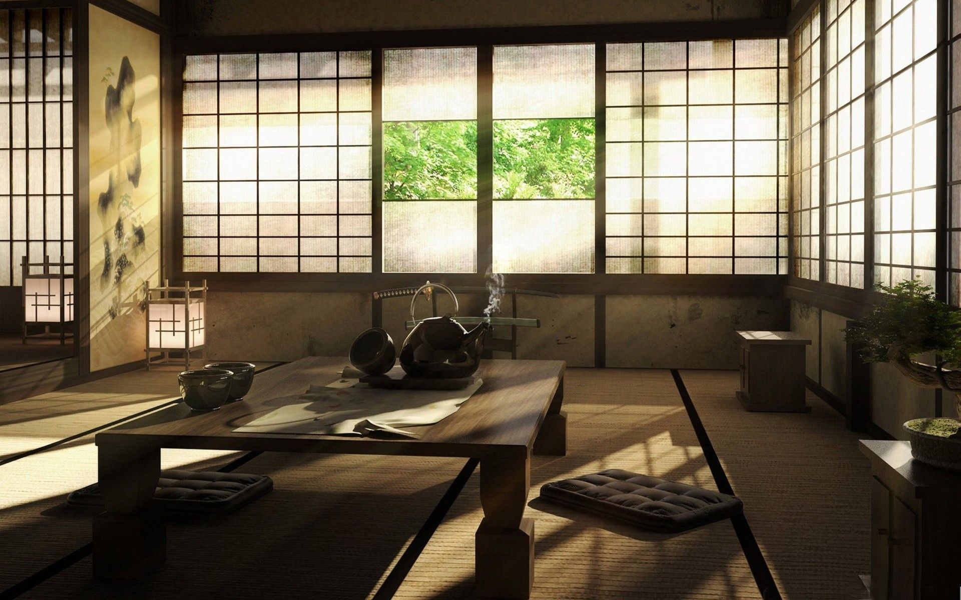 Japanese Room japanese sitting room [1920 x 1200] | sitting rooms, room and
