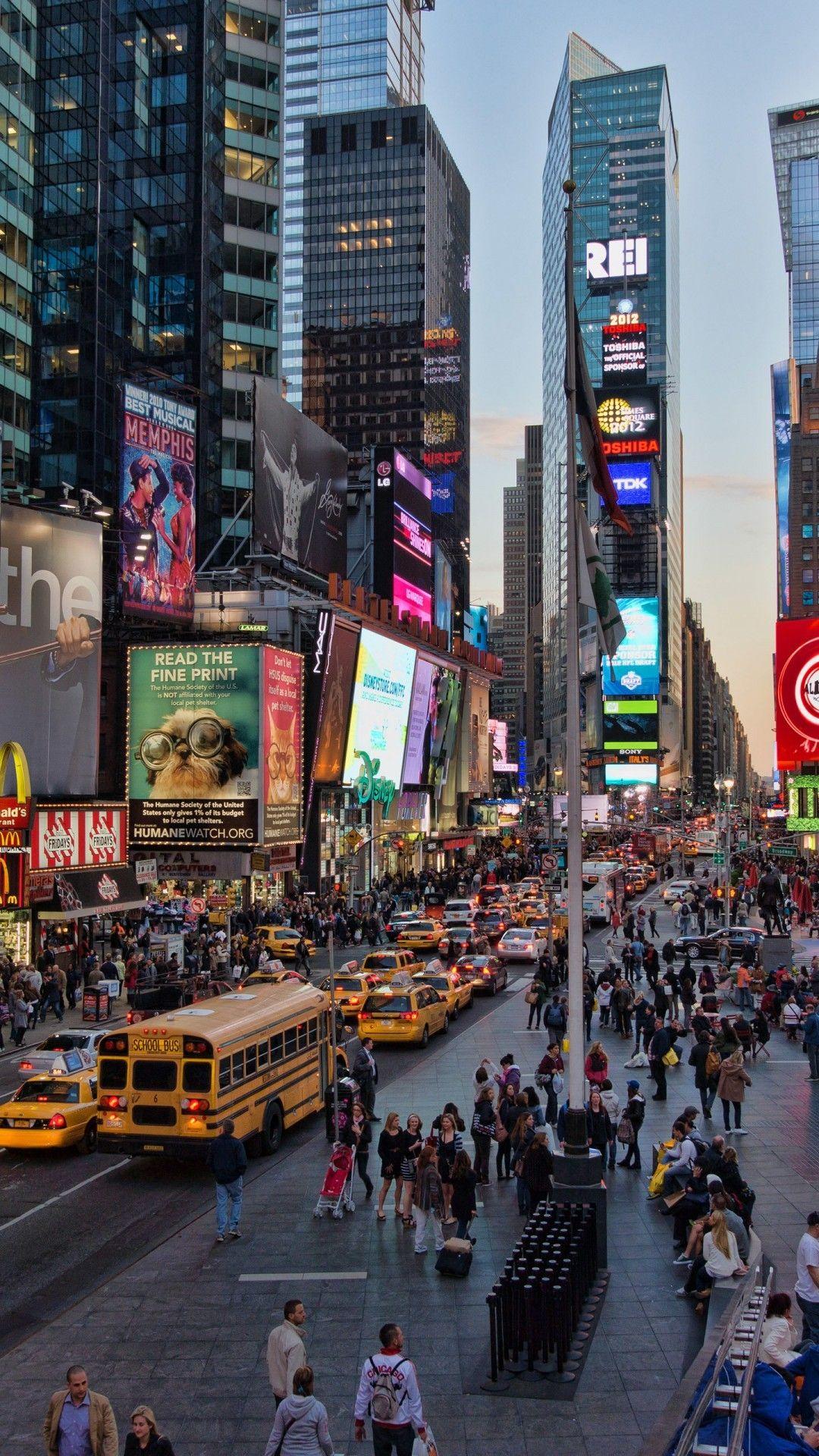 Cars New York City Manhattan Times Square Taxi Wallpapers New York City Background New York Wallpaper New York City Ny