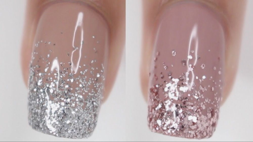 Pin By Amy Abdella On Nails In 2020 Ombre Nails Glitter Glitter Gel Nail Designs Glitter Gradient Nails