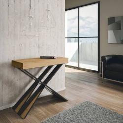 Photo of Design Konsolentisch ausziehbar bis 3mt in Melaminholz made Italy, Baschi Viadurini Collezione livi
