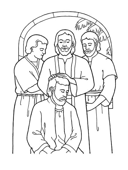 An illustration of the sixth article of faith ...
